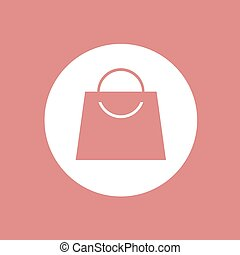 red circle shopping bag icon