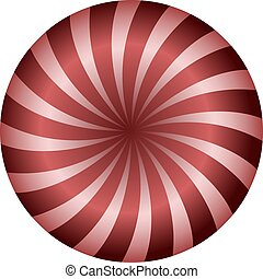 red circle spiral background