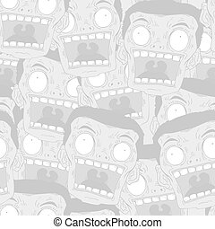 red fear face seamless background