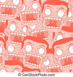 red fear face seamless