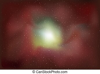 red galaxy background