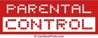 red parental control message symbol