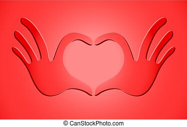 red passion heart symbol