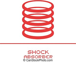 Red shock absorber illustration - Creative design of Red...