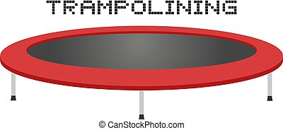red trampoline illustration - Creative design of red...