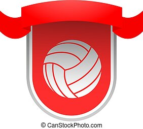 red Volleyball club emblem