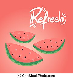 refresh watermelon illustration