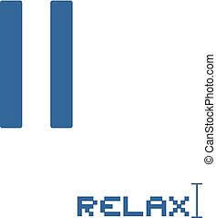 relax pause symbol - Creative design of relax pause symbol