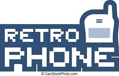 retro phone sign