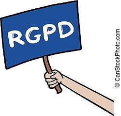 RGPD ruler message
