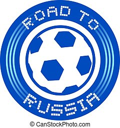 road to Russia round symbol - Creative design of road to...