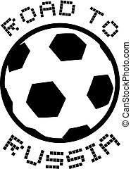 Road to Russia soccer symbol - Creative design of Road to...