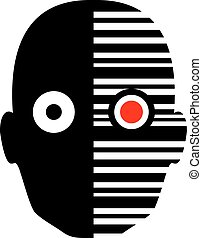 robot face icon