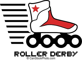 roller derby symbol - Creative design of roller derby symbol