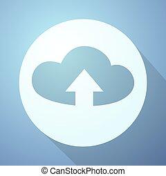 round cloud icon
