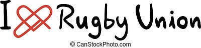 Rugby Union love icon - Creative design of Rugby Union love...