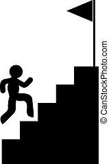 run to goal - Creative design of run to goal illustration