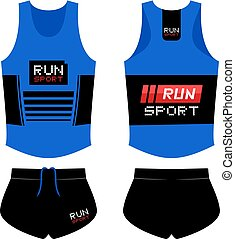 Creative design of runner athlete sport shirt