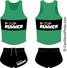Creative design of runner shirt illustration