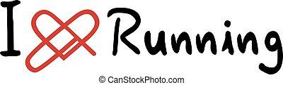 Running love icon