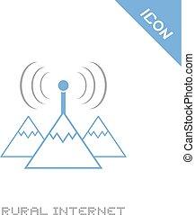 rural internet icon - Creative design of rural internet icon