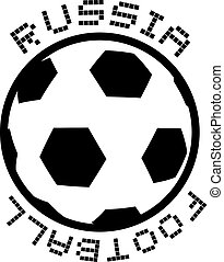 Russia football symbol - Creative design of Russia football...