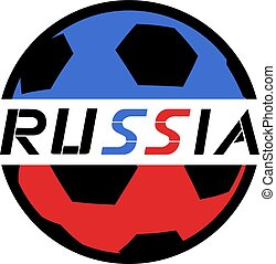 Russia soccer ball icon