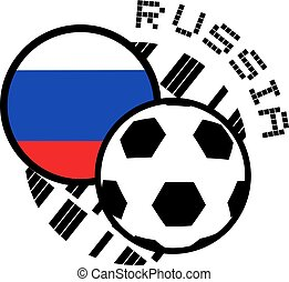 russia soccer illustration