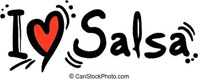Salsa love - Creative design of Salsa love