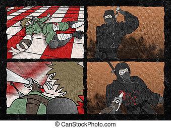 samurai fighters comic