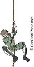 samurai hanging rope