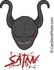 satan face mask - Creative design of satan face mask