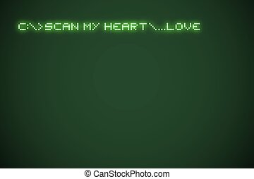scan my heart message - Creative design of scan my heart...