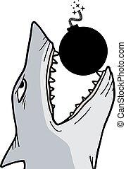 Shark and bomb