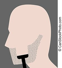 shaving the beard - Creative design of shaving the beard