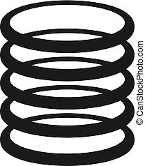 shock absorber icon - Creative design of shock absorber icon