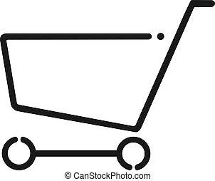 shopping cart flat icon