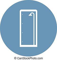 shower enclosure icon - Creative design of shower enclosure...