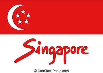 singapore flag design
