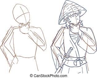 sketch man draw
