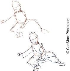 sketch old man draw