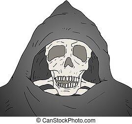 skull fear illustration