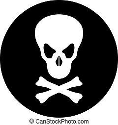 skull poison icon