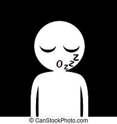 sleeping face draw