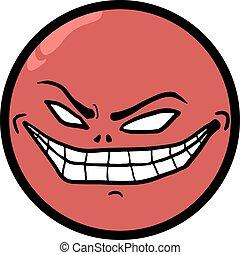 smile crazy face