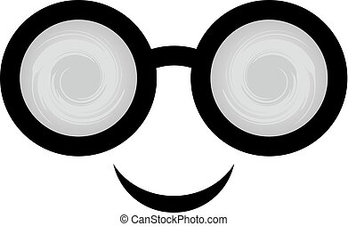 smile face with glasses