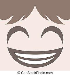 smiling face design