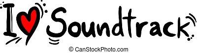Soundtrack music love - Creative design of Soundtrack music...