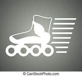 speed roller skate symbol - Creative design of speed roller...