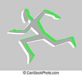 Speed run sign